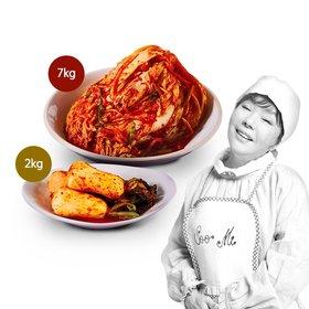 김수미 포기김치 7kg + 총각김치2kg