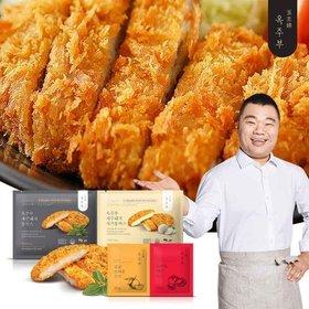 [옥주부]제주돼지통까스10팩(등심8팩+치즈2팩+소스10팩)